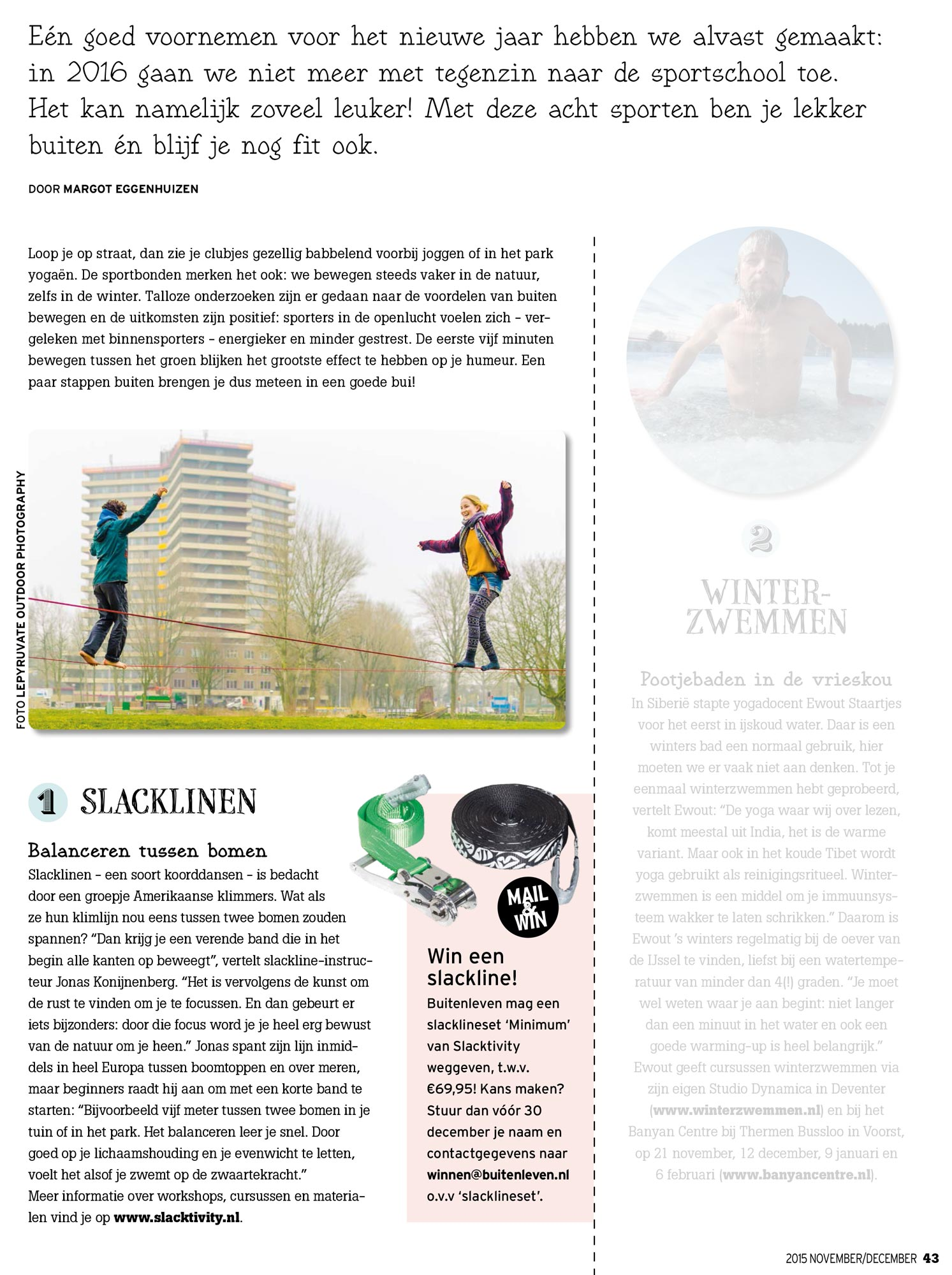Buitenleven magazine - November/December 2015